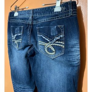 Vanity Jeans - Tyler Distressed Cropped Jeans